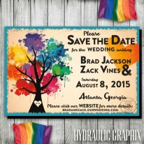 Gay Wedding Save the Date - By: Hydraulic Graphix