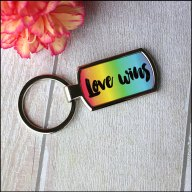 Love wins rainbow keyring - By: Zelsk